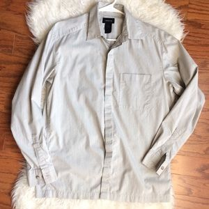 Claiborne off white Dress Shirt S